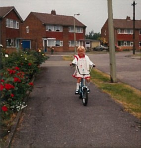suzanne on bike maybe