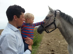 Mummy says 'horse' and Daddy says 'hest'
